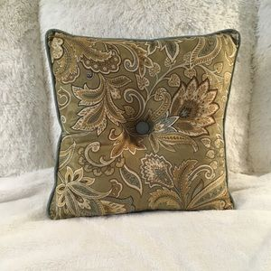 Paisley accent pillow